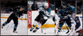 Hockey Collectibles:Photos, San Jose Sharks Stars Signed Oversized Photographs Lot of 3....