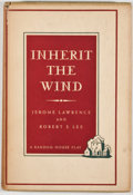 Books:First Editions, Jerome Lawrence and Robert E. Lee. Inherit the Wind. NewYork: Random House, [1955]. First edition, first printing. ...