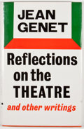 Books:First Editions, Jean Genet. Reflections on the Theatre. London: Faber &Faber, [1972]. First British edition, first printing. Octavo...