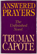 Books:First Editions, Truman Capote. Answered Prayers. New York: Random House,[1987]. First edition, first printing. Octavo. Publisher's ...