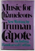 Books:First Editions, Truman Capote. Music for Chameleons. New York: Random House,[1980]. First edition, first printing. Octavo. Publishe...