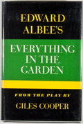 Books:First Editions, Edward Albee. Everything in the Garden. New York: Atheneum,1968. First edition, first printing. Octavo. Publisher's...
