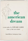 Books:First Editions, Edward Albee. The American Dream. New York: Coward-McCann,[1961]. First edition, first printing. Octavo. Publisher'...