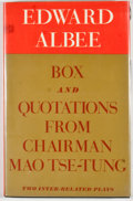 Books:Signed Editions, Edward Albee. SIGNED. Box and Quotations From Chairman Mao Tse-Tung. New York: Atheneum, 1969. First edition, first ...