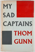 Books:First Editions, Thom Gunn. My Sad Captains. London: Faber and Faber, [1961].First edition, first printing. Octavo. Publisher's bind...
