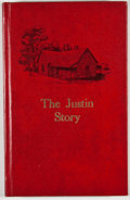 Books:First Editions, Grace Lee Parr. The Justin Story. [Quanah: Nortex Press,1976]. First edition. Octavo. Publisher's binding. Slight s...