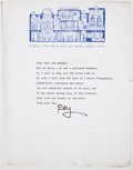 Books:Signed Editions, Ray Bradbury. Typed Letter Signed and on Author's Letterhead. Single page and not dated, but circa 1974. Letter from Bradbur...