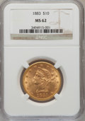 Liberty Eagles: , 1883 $10 MS62 NGC. NGC Census: (438/102). PCGS Population (291/74).Mintage: 208,740. Numismedia Wsl. Price for problem fre...