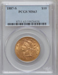 Liberty Eagles: , 1887-S $10 MS63 PCGS. PCGS Population (80/2). NGC Census: (54/6).Mintage: 817,000. Numismedia Wsl. Price for problem free ...