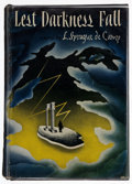 Books:Signed Editions, L. Sprague de Camp. Lest Darkness Fall. New York: HenryHolt, [1941]. First edition. Inscribed twice by de Camp:...