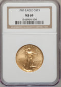 Modern Bullion Coins: , 1989 G$25 Half-Ounce Gold Eagle MS69 NGC....