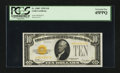 Small Size:Gold Certificates, Fr. 2400* $10 1928 Gold Certificate. PCGS Extremely Fine 45PPQ.. ...