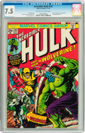Bronze Age (1970-1979):Superhero, The Incredible Hulk #181 (Marvel, 1974) CGC VF- 7.5 Off-white towhite pages....