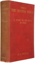 Books:First Editions, H. G. Wells. When the Sleeper Awakes. London and New York:Harper & Brothers, 1899. First edition. Octavo. 329 pages...