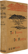 Books:First Editions, H. G. Wells. The Island of Dr. Moreau. London: WilliamHeinemann, 1896. First edition. Octavo. x, 219 pages. 34 page...