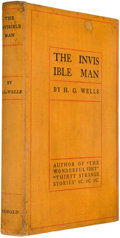 Books:First Editions, H. G. Wells. The Invisible Man, A Grotesque Romance.New York: Edward Arnold, 1897. First American edition. Octa...