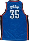Basketball Collectibles:Uniforms, Kevin Durant Signed Jersey. ...
