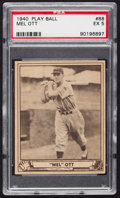 Baseball Cards:Singles (1940-1949), 1940 Play Ball Mel Ott #88 PSA EX 5....