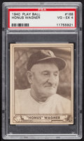 Baseball Cards:Singles (1940-1949), 1940 Play Ball Honus Wagner #168 PSA VG-EX 4....