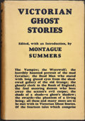 Books:Science Fiction & Fantasy, Montague Summers, editor. Victorian Ghost Stories. London: The Fortune Press, [n. d.]. Octavo. xlviii, [1]-366, ...
