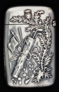 Silver Smalls:Match Safes, A GORHAM SILVER GOLF MATCH SAFE . Gorham Manufacturing Co.,Providence, Rhode Island, circa 1900. Marks: (lion-anchor-G),...