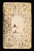 Silver Smalls:Match Safes, AN UNGER BROTHERS GOLD MATCH SAFE . Unger Bros., Newark, NewJersey, circa 1900. Marks: (UB intertwined), 14K 139 .2-1/...