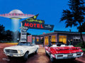 Fine Art - Painting, American:Contemporary   (1950 to present)  , FROM THE ESTATE OF CHARLES MARTIGNETTE.. RICK KRAFCZYK (American,20th Century). No Vacancy II, 2005. Acrylic on b...
