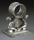 Silver Holloware, American:Napkin Rings, A REED & BARTON SILVER-PLATED FIGURAL NAPKIN RING . Reed &Barton, Taunton, Massachusetts, circa 1875. Marks: 1325. 4in...