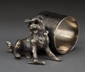 Silver Holloware, American:Napkin Rings, AN AMERICAN SILVER-PLATED FIGURAL NAPKIN RING . Attributed to JamesW. Tufts, Boston, Massachusetts, circa 1875. 2 inches hi...