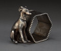 Silver Holloware, American:Napkin Rings, AN AMERICAN SILVER-PLATED FIGURAL NAPKIN RING . Maker unknown,American, circa 1875. Unmarked. 2-1/2 inches high (6.4 cm). 4...
