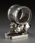 Silver Holloware, American:Napkin Rings, A SIMPSON, HALL, MILLER SILVER-PLATED FIGURAL NAPKIN RING .Simpson, Hall, Miller & Co., Wallingford, Connecticut, circa187...