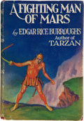 Books:First Editions, Edgar Rice Burroughs. A Fighting Man of Mars. New York:Metropolitan, 1931. First edition. Octavo. 319 pages. Red cl...