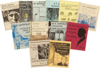 [H. P. Lovecraft]. Twenty-Eight Lovecraft-Related Pamphlets from Necronomicon Press. All square octavo in illustrated