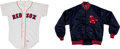 Baseball Collectibles:Uniforms, 1980's Boston Red Sox Game Worn Jersey and Jacket....