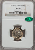 Buffalo Nickels, 1938 D/D 5C MS66 NGC. CAC. NGC Census: (18475/1790). PCGSPopulation (26809/1528). Mintage: 7,020,000. Numismedia Wsl.Pric...