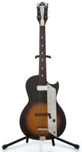 Musical Instruments:Electric Guitars, 1960's Kay Single Pickup Sunburst Solid Body Electric Guitar...