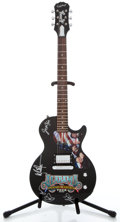 Musical Instruments:Electric Guitars, Recent Epiphone Alabama Tribute Black Solid Body Electric Guitar#SJ800-2602...