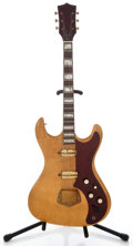 Musical Instruments:Electric Guitars, 1960's Kay Gold Hardware Natural Solid Body Electric Guitar ...