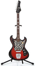 Musical Instruments:Electric Guitars, 1960's Barclay Japan Redburst Solid Body Electric Guitar...
