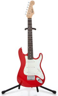 Musical Instruments:Electric Guitars, Squire Fender Mini Strat Red Solid Body Electric Guitar#IS90700751...