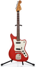 Musical Instruments:Electric Guitars, 1960's Fanus Offset Red Solid Body Electric Guitar #48846-72...