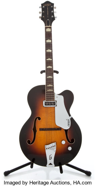 Musical InstrumentsElectric Guitars 1956 Gretsch 6190 Electromatic Sunburst Archtop Electric Guitar17793