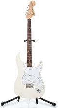 Musical Instruments:Electric Guitars, 2007 Fender Stratocaster MIM White Solid Body Electric Guitar, Serial Number #MZ7196990...