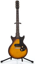 Musical Instruments:Electric Guitars, 1962 Gibson Melody Maker Sunburst Solid Body Electric Guitar #54842...