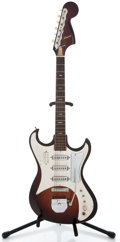Musical Instruments:Electric Guitars, 1960's Kawai 3 Pickup Sunburst Solid Body Electric Guitar ...