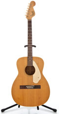 Musical Instruments:Acoustic Guitars, 1960's Fender Malibu Natural Acoustic Guitar, Serial Number #10209...