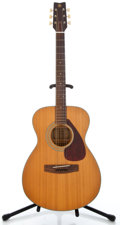 Musical Instruments:Acoustic Guitars, 1980's Yamaha FG-110 Natural Acoustic Guitar #30507631...