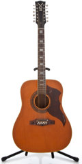 Musical Instruments:Acoustic Guitars, 1960's Vox Folk Twelve Natural 12 String Acoustic Guitar #394874...
