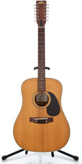 Musical Instruments:Acoustic Guitars, 1980's Sigma Martin DR12-7 Natural 12 String Acoustic Guitar #3620...