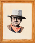 Movie/TV Memorabilia:Memorabilia, Four Works of Art, 1970s... (Total: 4 )